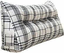 Schützen Sie die Taille lässigen Kissen Doppelbett Großes Dreieck Kissen / Kissen mit abnehmbarem Bezug, im Bett / Sofa / Büro / Haus / Auto, die für Lenden- / Rückenlehne / Lesekissen, weiße und schwarze Linien verwendet werden kann QLDX-Cushions ( größe : 180*50*20cm )