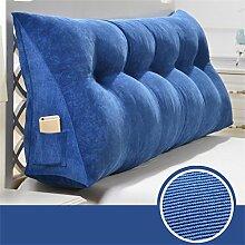 Schützen Sie die Taille lässigen Kissen Dreidimensional Dreieck Bettseite Kissen Kissen Rückenlehne Lordosenstütze Sofa Kissen gemütlich entspannen weich Kord waschbar QLDX-Cushions ( Farbe : #4 , größe : Length 90cm )