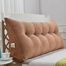 Schützen Sie die Taille lässigen Kissen Dreidimensional Dreieck Bettseite Kissen Kissen Rückenlehne Lordosenstütze Sofa Kissen gemütlich entspannen weich Einfache moderne QLDX-Cushions ( Farbe : #2 , größe : Length 90cm )
