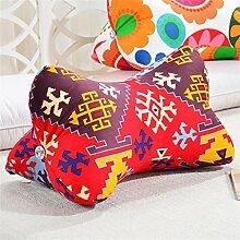 Schützen Sie die Taille lässigen Kissen Dreidimensional Hinterhauptsbein Bettseite Kissen Kissen Rückenlehne Lordosenstütze Sofa Kissen gemütlich entspannen weich Hals Kissen Bein Kissen Länge 55cm QLDX-Cushions ( Farbe : #3 )
