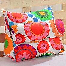 Schützen Sie die Taille lässigen Kissen Dreieck Dreidimensional Bettseite Sofa Kissen Kissen Rückenlehne Lordosenstütze Kissen gemütlich entspannen weich enthalten Kopfstütze Eine Vielzahl von Mustern Mehrere Größen Kreative Mode QLDX-Cushions ( Farbe : #1 , größe : 60cm*50cm*22cm )