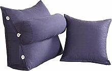Schützen Sie die Taille lässigen Kissen Dreieck Kissen / Kissen mit abnehmbarem Bezug und Kissen, im Bett / Sofa / Büro / Haus / Auto, die für Lenden- / Rückenlehne / Lesekissen verwendet werden kann, lila (1 Dreieck Kissen +1 Kissen) QLDX-Cushions ( größe : B )