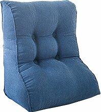 Schützen Sie die Taille lässigen Kissen Dreieck Kissen / Kissen mit abnehmbarem Bezug, im Bett / Sofa / Büro / Haus / Auto, die für Lenden- / Rückenlehne / Lesekissen, Blau verwendet werden kann QLDX-Cushions ( größe : 55*60*30cm )