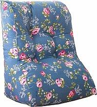 Schützen Sie die Taille lässigen Kissen Dreieck Kissen / Kissen mit abnehmbarem Bezug, im Bett / Sofa / Büro / Haus / Auto, die für Lenden- / Rückenlehne / Lesekissen, Blaues Blumen verwendet werden kann QLDX-Cushions ( größe : 45*55*30cm )