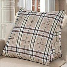 Schützen Sie die Taille lässigen Kissen Gitter Dreieck Dreidimensional Bettseite Kissen Sofa Kissen Rückenlehne Kissen Lordosenstütze gemütlich entspannen waschbar 60cm * 30cm * 50cm QLDX-Cushions ( Farbe : #4 )