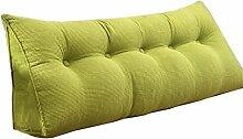 Schützen Sie die Taille lässigen Kissen Großes doppeltes Bett-Dreieck-Kissen / Kissen mit entfernbarem Abdeckung, im Bedside / Sofa / Büro / Haus / Auto, das für Lenden- / Rückenlehne / Lesekissen, Grün verwendet werden kann QLDX-Cushions ( größe : 135*50*22cm )