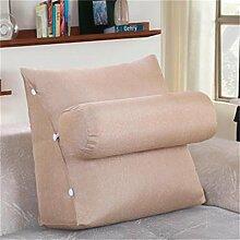 Schützen Sie die Taille lässigen Kissen Kissen Kissen Rückenlehne Nachttisch Sofa Kissen Komfortable Soft Relax Triangle QLDX-Cushions ( Farbe : #10 , größe : 45*20*45cm )