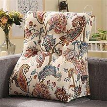 Schützen Sie die Taille lässigen Kissen Kissen Kissen Rückenlehne Nachttisch Sofa Kissen Komfortable Soft Relax Triangle QLDX-Cushions ( Farbe : #6 , größe : 55*30*60cm )