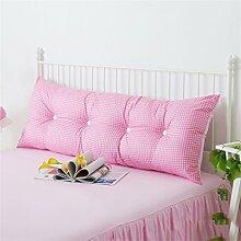 Schützen Sie die Taille lässigen Kissen Kissen Kissen Rückenlehne Bedside Einzelbett Doppelbett Bett Große Kissen Kissen Lovely Komfortable Soft Abnehmbare Wash QLDX-Cushions ( Farbe : #1 , größe : Length 1.2m )