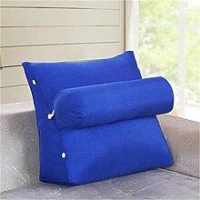 Schützen Sie die Taille lässigen Kissen Kissen Kissen Rückenlehne Nachttisch Sofa Kissen Komfortable Soft Relax Triangle QLDX-Cushions ( Farbe : #7 , größe : 45*20*45cm )