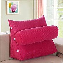 Schützen Sie die Taille lässigen Kissen Kissen Kissen Rückenlehne Nachttisch Sofa Kissen Komfortable Soft Relax Triangle QLDX-Cushions ( Farbe : #4 , größe : Length 45cm )