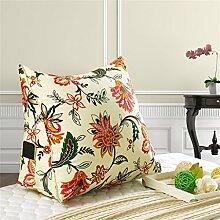 Schützen Sie die Taille lässigen Kissen Kissen Kissen Rückenlehne Nachttisch Sofa Kissen Komfortable Soft Relax Triangle QLDX-Cushions ( Farbe : #7 , größe : Length 45cm )