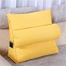 Schützen Sie die Taille lässigen Kissen Kissen Kissen Rückenlehne Nachttisch Sofa Kissen Komfortable Soft Relax Triangle QLDX-Cushions ( Farbe : #3 , größe : 60*50*20cm )