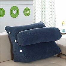 Schützen Sie die Taille lässigen Kissen Kissen Kissen Rückenlehne Nachttisch Sofa Kissen Komfortable Soft Relax Triangle QLDX-Cushions ( Farbe : #5 , größe : Length 45cm )