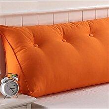 Schützen Sie die Taille lässigen Kissen kreativ Dreidimensional Dreieck Bettseite Kissen Sofa Kissen Rückenlehne Kissen Lordosenstütze gemütlich entspannen Leinwand Baumwolle QLDX-Cushions ( Farbe : #17 , größe : 100cm*50cm*25cm )