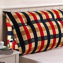 Schützen Sie die Taille lässigen Kissen kreativ Dreidimensional Dreieck Bettseite Kissen Sofa Kissen Rückenlehne Kissen Lordosenstütze gemütlich entspannen Leinwand Baumwolle QLDX-Cushions ( Farbe : #3 , größe : 120cm*50cm*25cm )