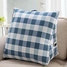 Schützen Sie die Taille lässigen Kissen kreativ Dreieck Dreidimensional Bettseite Kissen Sofa Kissen Rückenlehne Kissen Leinwand Lordosenstütze gemütlich waschbar QLDX-Cushions ( Farbe : #14 , größe : S )