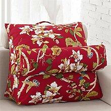 Schützen Sie die Taille lässigen Kissen Triangle Big Rückenlehne Sofa Bett Kissen Lordosenstütze-Kissen-Auflage Gemütlich genießen einstellbar Sie können eine Vielzahl von Mustern abnehmbar und waschbar QLDX-Cushions ( Farbe : #5 , größe : 38*43*20cm )