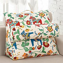 Schützen Sie die Taille lässigen Kissen Triangle Big Rückenlehne Sofa Bett Kissen Lordosenstütze-Kissen-Auflage Gemütlich genießen einstellbar Sie können eine Vielzahl von Mustern abnehmbar und waschbar QLDX-Cushions ( Farbe : #12 , größe : 38*43*20cm )