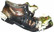 Schuh mit Frosch, 12x6x6cm