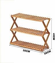 Schuh-Rack Faltbare Kreative Einfache Schuh-Schrank Bambus-Blumen-Racks Multi Tier (Multi-Size) ( größe : #3 )