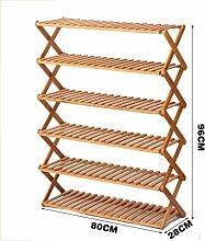 Schuh-Rack Faltbare Kreative Einfache Schuh-Schrank Bambus-Blumen-Racks Multi Tier (Multi-Size) ( größe : #22 )