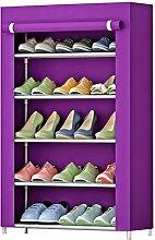 Schuh Racks Storage Multi - Layer Montage Schuh Schrank (Lila)
