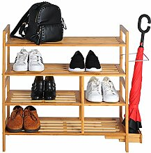 Schuhablage Schuhregal Schuhständer Schuhe Ständer Regal Badregal aus Bambus, 74 x 75 x 26 cm (B x H x T) SR0057