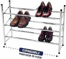 Schuhregal, 3Etagen, ausziehbar, stapelbar,