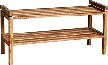 Schuhregal aus Eiche Massivholz geölt 80 cm