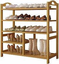 Schuhregal groß aus Holz für Stiefel, Tür