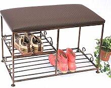 Schuhregal mit Sitzbank Art.295 Bank 70 cm Schuhschrank aus Metall Schuhablage