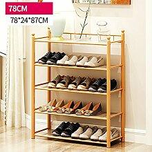 Schuhregal Schuhregal Natürliche Bambus Holz Einfache Schuhregal Lagerung Veranstalter Halter Multilayer Multifunktionale Lagerung Regal Schuh Veranstalter ( größe : 78*24*87cm )