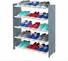 Schuhregal Schuhschrank Schuhe Schuhständer RBS-5-65 (Seiten dunkelgrau, Stangen in der Farbe weiß)