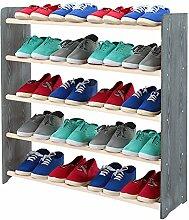 Schuhregal Schuhschrank Schuhe Schuhständer RBS-5-90 (Seiten dunkelgrau, Stangen in der Farbe weiß)