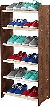 Schuhregal Schuhschrank Schuhe Schuhständer RBS- 6-45 (Seiten dunkelgrau, Stangen in der Farbe weiß)