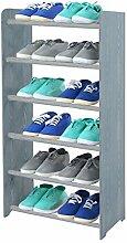 Schuhregal Schuhschrank Schuhe Schuhständer RBS- 6-45 (Seiten dunkelgrau, Stangen in der Farbe grau)