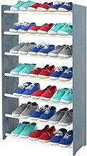 Schuhregal Schuhschrank Schuhe Schuhständer RBS-7-65 (Seiten dunkelgrau, Stangen in der Farbe weiß)
