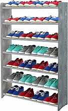 Schuhregal Schuhschrank Schuhe Schuhständer RBS- 7-90 (Seiten dunkelgrau, Stangen in der Farbe grau)