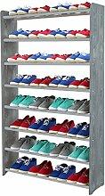 Schuhregal Schuhschrank Schuhe Schuhständer RBS-8-90 (Seiten dunkelgrau, Stangen in der Farbe grau)