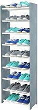 Schuhregal Schuhschrank Schuhe Schuhständer RBS-9-45 (Seiten dunkelgrau, Stangen in der Farbe weiß)