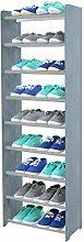 Schuhregal Schuhschrank Schuhe Schuhständer RBS-9-45 (Seiten dunkelgrau, Stangen in der Farbe grau)