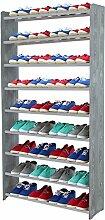 Schuhregal Schuhschrank Schuhe Schuhständer RBS-9-90 (Seiten dunkelgrau, Stangen in der Farbe grau)