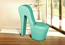 Schuhsessel DESIGNER Sessel LARA - Mintgrün High Heel Sessel