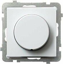 Schuko Steckdose Ausschalter Taster Lichtschalter Dimmer Schalter AS weiß (Drehdimmer LED LP-8GL2/m/00)