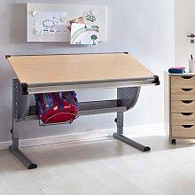 Schulkinder Schreibtisch  höhenverstellbar Tischplatte neigbar