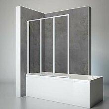 Schulte D1300 01 50 Duschwand Well, 127 x 140 cm,