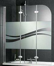 Schulte D3354 Badewannenfaltwand 3-teilig Echtglas