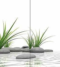 Schulte Deco-Design Foto Zen Steine + Gras über