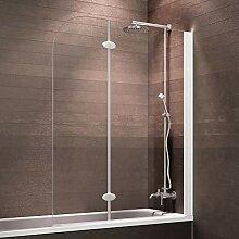 Schulte Duschabtrennung, faltbar für Badewanne,